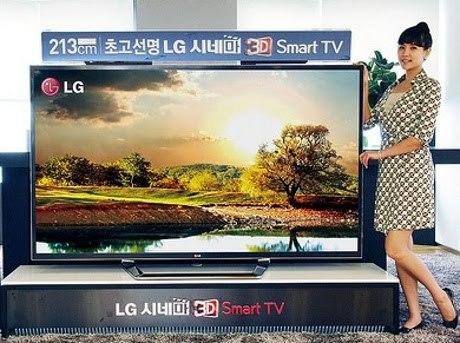 televisi canggih LG 84LM9600 oleh segiempat