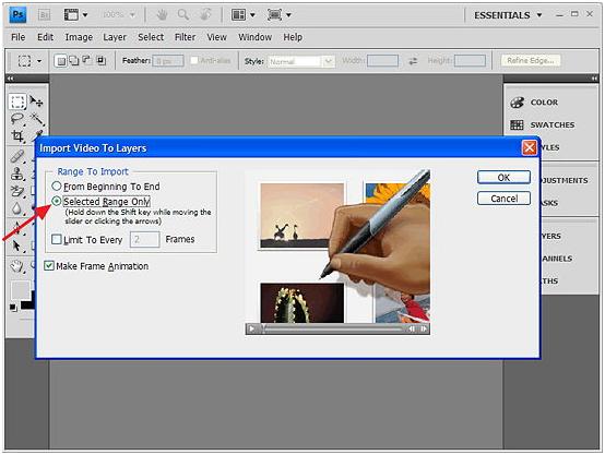 Cara Membuat Animasi GIF Dari Video Dengan Menggunakan Photoshop CS5 SegiEmpat